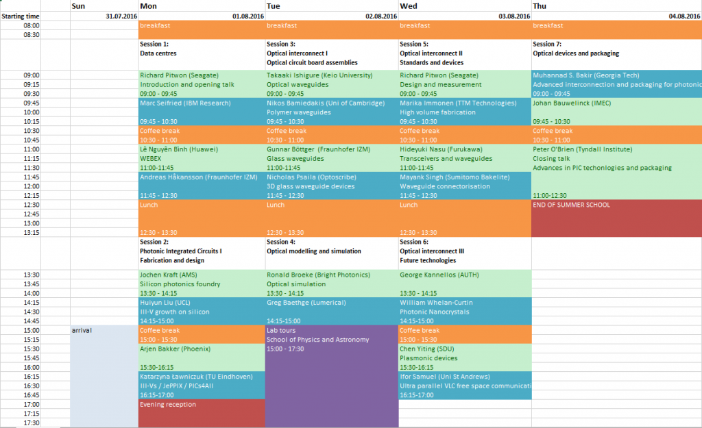 schedule summerschool updated